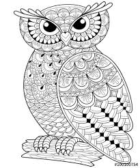 Adult Anti Stress Coloring Page Black And White Hand Drawn Illustration