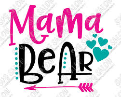 Mama Bear SVG Cut File Set