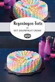 regenbogen pink grapefruit torte kuchen dekorieren