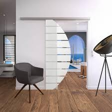 glasschiebetür set 4as900 mit stoßgriff für ihr wohnzimmer