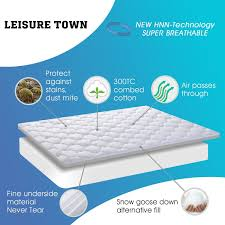 """Overfilled Fitted Mattress Pad Cover 8 21""""Deep Pocket Cooling"""