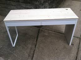 Micke Desk With Integrated Storage Hack by Ikea Micke Desk Hack With Pine Slats Sold Jegs D I Y