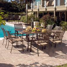 Aluminum Sling Stackable Patio Chairs by Panama Jack Island Breeze 9 Piece Aluminum Patio Dining Set With