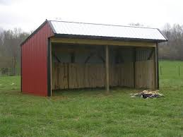 Livestock Loafing Shed Plans by Bk Barns Horse Barn Construction Contractors In Lascassas Tennessee
