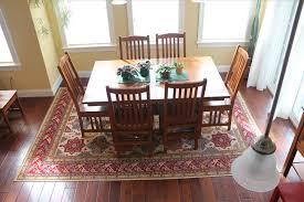Image Of Ideas Rug Under Dining Room Table