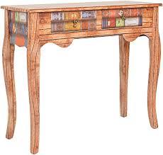 ts ideen konsolentisch anrichte sekretär kommode buch holz look shabby antik vintage flur wohnzimmer esszimmer oder büro aufbewahrung