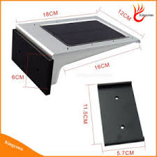 china rechangable battery 20 led pir motion sensor solar light