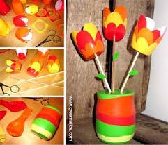 pot de yaourt recyclable diy bouquet tulipes récup tulipes bouquet et pots