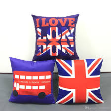 Papasan Chair Cushion Cheap Uk by British Retro Vintage Style Cushion Covers I Love London Bus Union