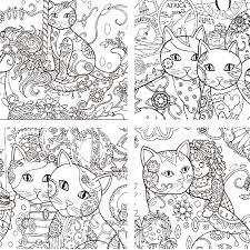 Aliexpress Buy Creative Haven Cats Coloring Books For Adults 24pages Stress Relieving Antistress Book Adult From