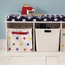 Navy Storage Bench by Abbeville Storage Bench White With Navy Star Cushion Abbeville