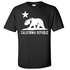 California Flag Oversized White Silhouette T Shirt Tee