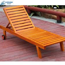 Beach Cabana Wooden Folding Lounger Pool Furniture Wholesale