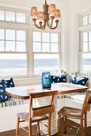 Blue Nautical Decor In An Elegant Maine Home Rope Chandelier And Table