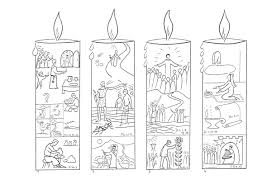 Advent Candles Colouring Pages