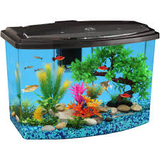 Star Wars Fish Tank Decorations by Hawkeye 7 Gallon Bow View Aquarium Kit With Led Light And Power