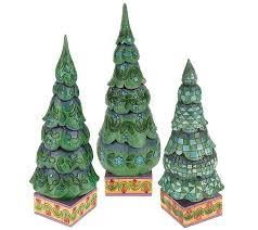 Qvc Christmas Tree Storage Bag by Jim Shore Heartwood Creek Set Of 3 Christmas Trees Page 1 U2014 Qvc Com