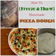 Preetys Kitchen How To Freeze Thaw Homemade Pizza Dough