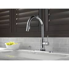 Delta Linden Kitchen Faucet Home Depot by Delta Faucet 9159t Dst Trinsic Polished Chrome Pullout Spray