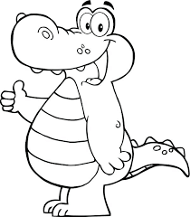 Cute Alligator Coloring Pages Alligators Color Images Free Printable