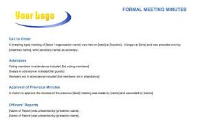 Business Meeting Minutes Template Free For Word Annual