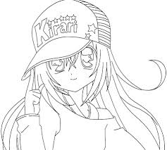 Anime Coloring Pages For Girls 2