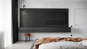 sideboard für schlafzimmer in minimalistischem schwarz matt