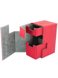 Mtg Sliver Deck Box by Amazon Com Flip U0027n U0027 Tray Xenoskin Deck Box Red Toys U0026 Games