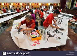 People Draw A Painting In Kelang Malaysia On Jan 31 2016 Fifty Painters Created 1905 Meter Long Seven Hours Sunday Hitting Record