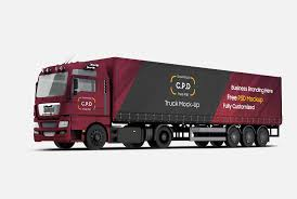 100 Free Truck Trailer Mockup PSD 4 Mockups PSD