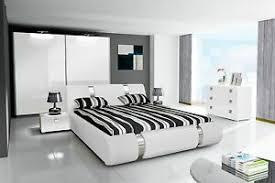 schlafzimmer komplett hochglanz weiss schrank bett 2 nako