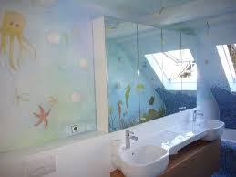 bad badezimmer gestaltung wandmalerei wandgestaltung