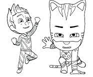 PJ Masks Coloring Pages Catboy And Romeo Mask
