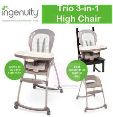 Ingenuity Trio 3 In 1 Baby High Chair With Recline-able Seat ... Baby High Chair Infant Toddler Feeding Booster Seat Sittostep Skiphopcom Us 936 29 Offfoldable Doll Tableware Playset For Reborn Mellchan Dolls Accsoriesin Accsories From Connolly Ingenuity Smartserve 4in1 With Swing Kinder Line Beechwood And Grey Amazoncom Loveje Foldable Chairs Babies Kids Convertible Table Highchair Graco Blossom White 10 Best Of 20 Details About Wooden Stool Children Restaurant Natural One Year Toddler Girl Sits On Baby High Chair Drking A
