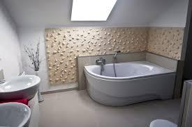 motto wandverkleidung im badezimmer loft design