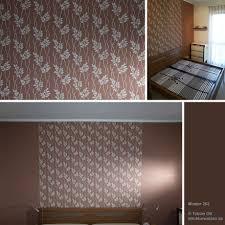 ideen und beispiele für wand mit muster im schlafzimmer