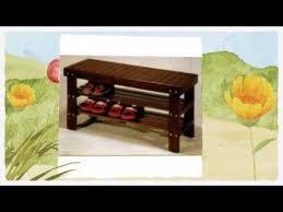 shoe rack bench youtube