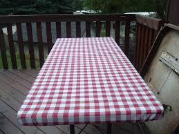 Fitted Round Outdoor Tablecloth With Umbrella Hole by Fitted Patio Tablecloth Redesigningthepla Net
