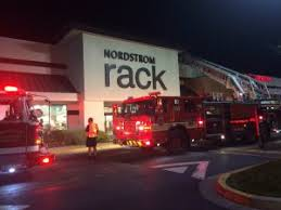 Fire at Nordstrom Rack PHOTO