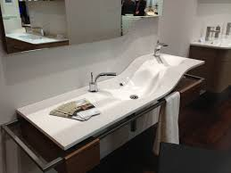 Undermount Double Faucet Trough Sink by Bathroom Sink Trough Sink With 2 Faucets Double Faucet Vessel