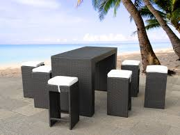 """Rattan Garden Bar Furniture Set """"Vita"""" Rattan Bar Lounge Table And Chairs  For Garden, Balcony Or Terrace Dark Brown Cool Lounge Fniture Outdoor Modular Bar Lounge Fniture Milo Baughman Style Cy Mann Mid Century Modern Flat Chrome Chairs Pair Of Vertical Hippy Chair And Stool Model Max 1 Bedroom Uk Rmjoy Of Parallel By F Knoll 1959s New Rattan Garden Bar Set Vita Rattan Table And Chairs For Balcony Or Terrace Dark Brown By 1970s Vintage A Rio De Janeiro Brazil March 17 2019 Poolside Living Room Inspirational Thayer Coggin"""