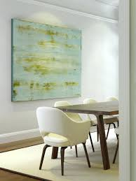 Interesting Dining Room Canvas Art Gallery Abstract Contemporary With Dark Stained Wood Leather