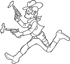 Cowboy Coloring Pages 7