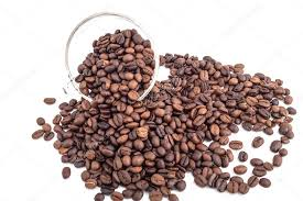 Transparent Glass Full Of Coffee Beans On White Background Photo By Dourleak