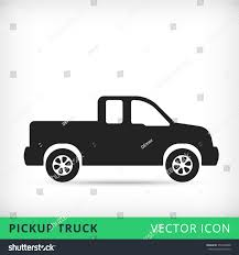 100 Icon Truck Pickup Flat Vector Black Stock Vector Royalty Free