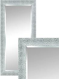 len fra elise wall mirror modern silver 115 x 55 cm stylish framed mirror with facet cut
