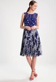 hobbs georgina summer dress french blue multi women clothing