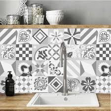 fliesen aufkleber grau geometrie selbst adhesive wand aufkleber anti öl wasserdicht simulation fliesen küche bad decor customed