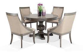 gatsby round 5 piece dining set with swoop chairs bob s discount