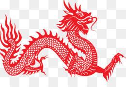 Chinese Dragon Papercutting Illustration